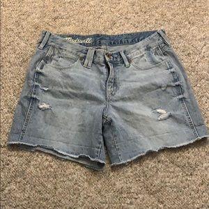 Madewell Distressed Boyfriend Jean Shorts Size 27